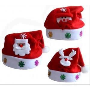 M001 拉絨布兒童聖誕帽