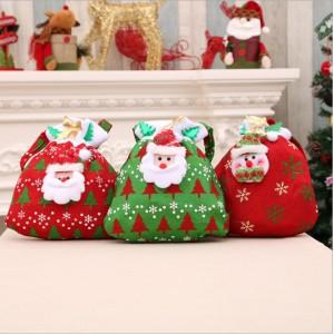 M006  聖誕金絲絨禮物袋
