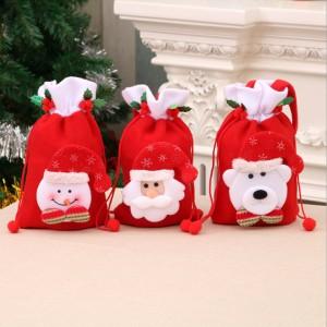 M008  聖誕絨布禮物袋