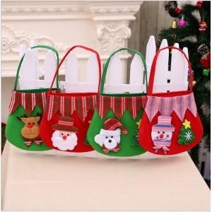 M004  聖誕老人絨布禮物袋