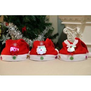 M003  拉絨布發光兒童聖誕帽