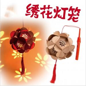 P011 綉花燈籠(包燈、杆)