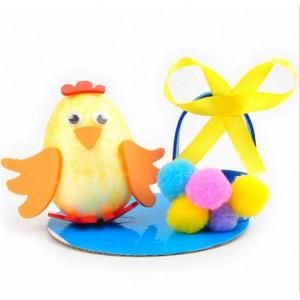 E010 DIY毛球小雞