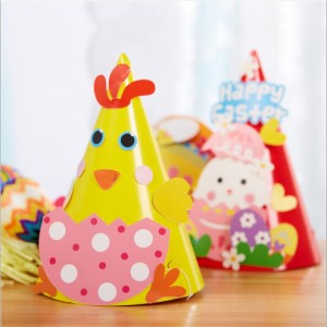 E015 DIY 纸杯动物帽子